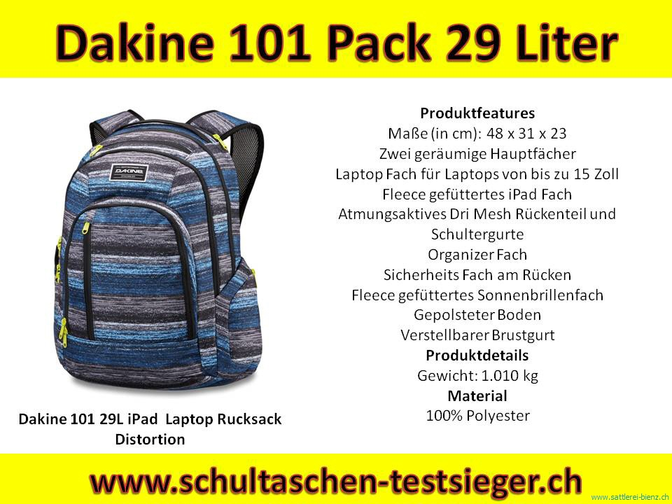 eaaa556ed187e Dakine 101 Distortion 29L iPad Laptop Rucksack