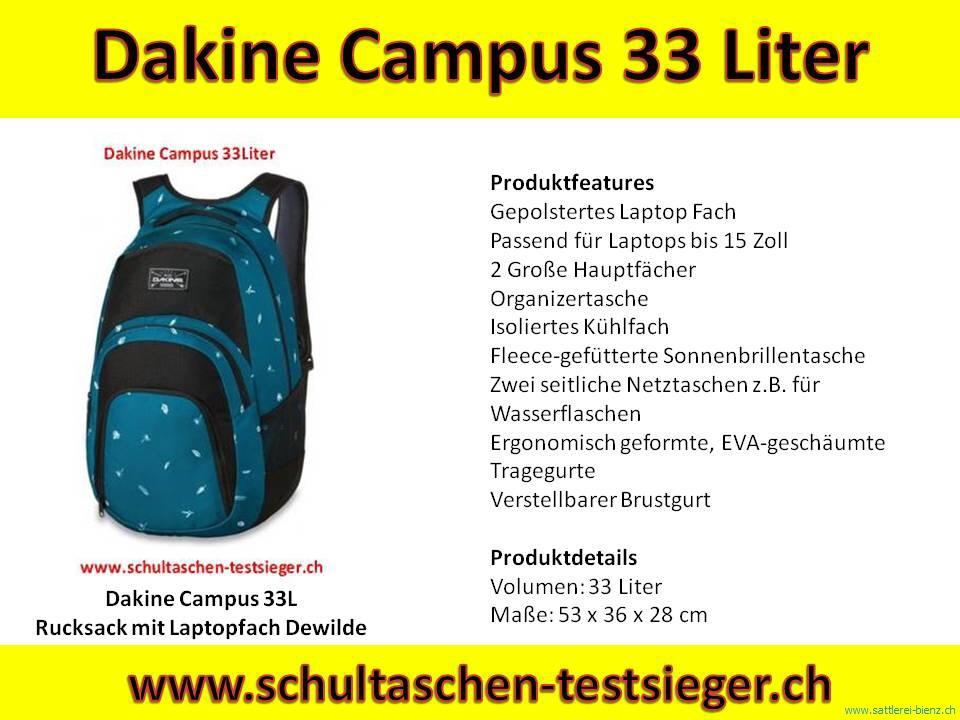 b72933984d4af Dakine Dewilde Campus 33L Pack Rucksack